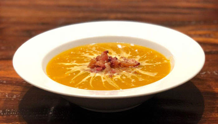 Moo-tastic Butternut Apple Soup