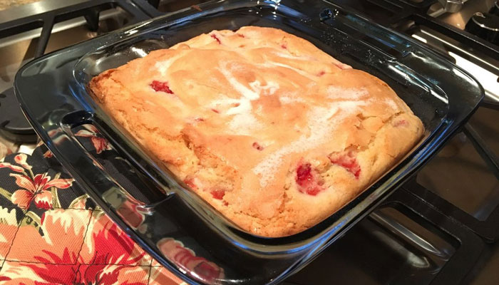 Strawberry French Cake